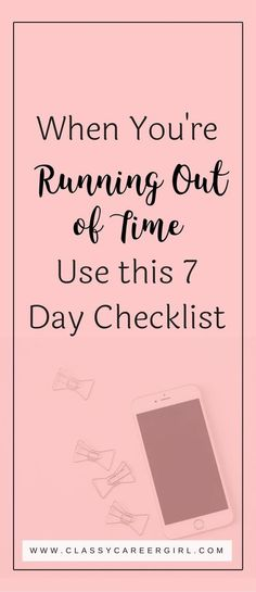 Stop feeling like you're running out of time. Take one step per day, and your productivity will be on track by next week. You got this! Get started now!
