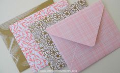 Handmade Envelope Set 6 Pretty!!! :)