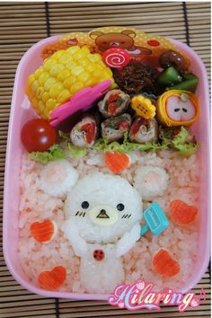 Visit the post for more. Japanese Food Art, Japanese Lunch Box, Cute Food, I Love Food, Yummy Food, Cute Bento Boxes, Hello Kitty, Kawaii, Bears