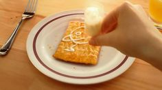 Step away from the ordinary breakfast foods. Pillsbury describes their uniqueness  with their toaster strudels in this commercial. The breakfast treat is wrapped in a flaky crust, stuffed with a gooey fruit center, toasted, then topped off with icing.