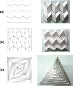 Origami Pleat Fold Examples Of Rigid Foldable Origami A Miura Ori B Dcs C. Origami Pleat Fold Block Design Origami Mountain Fold Powder Coated Steel Wall Clock Yellow Origami Pleat Fold How To Make Paper Art The Reverse Folded… Continue Reading → Origami Ball, Origami And Kirigami, Origami Paper Art, Origami Folding, Diy Paper, Paper Crafting, Paper Folding Art, Paper Folding Techniques, Dollar Origami