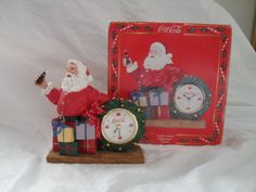 Coca Cola Christmas Santa Clock 1998 #CocaCola