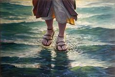 Image discovered by Find images and videos about god, jesus and Christ on We Heart It - the app to get lost in what you love. Akiane Kramarik Paintings, Jesus Walk On Water, Jesus Painting, Jesus Christus, Prophetic Art, Biblical Art, Jesus Pictures, Bible Art, Christian Art