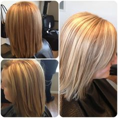Lovely honey blonde and lowlights by Becky