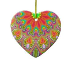 Ambrosia Delight Fractal Heart Ornament