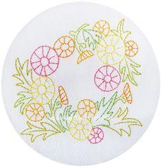 Dandelion Wreath Embroidery Pattern PDF