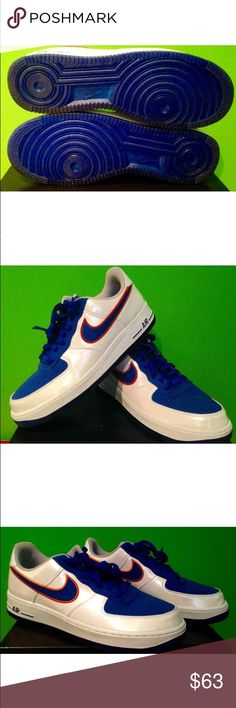 NY Knicks Nike AF1's Size 11.5 brand new!!!! NY Knicks Nike AF1's Size 11.5 see picks for more details. Brand new, never worn! Nike Shoes Athletic Shoes