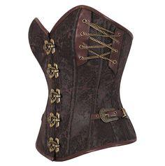 The Violet Vixen - Unchain my Heart - Brown Corset, $148.00 (http://thevioletvixen.com/authentic-corsets/overbust/unchain-my-heart-brown-corset/)