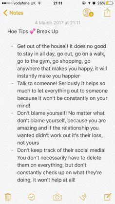 Hoe tips for break ups