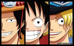 One Piece - Brothers by SergiART on DeviantArt