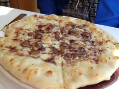 Disney Cruise Line Palo Gorgonzola and Grape Pizza with a Port Wine Reduction Sauce Link to recipe at bottom of post.