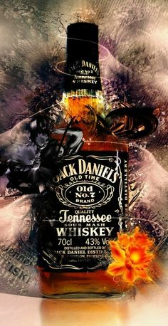 cool This Jack Daniel's bottle looks super cool. Great job to whoever created it! Jack Daniels Tattoo, Jack Daniels Logo, Jack Daniels Bottle, Jack Daniels Wallpaper, Whiskey Girl, Cigars And Whiskey, Whiskey Bottle, Whisky Jack, Jack Daniel's Tennessee Whiskey