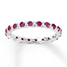 Purchase Ct Ruby Stackable Eternity Band Ring Sterling Silver July Birthstone # Free Stud Earrings from JewelryHub on OpenSky. Share and compare all Jewelry. Diamond Gemstone, Gemstone Jewelry, Promise Rings For Couples, July Birthstone, Stackable Rings, Eternity Bands, White Gold Rings, Band Rings, Fashion Rings
