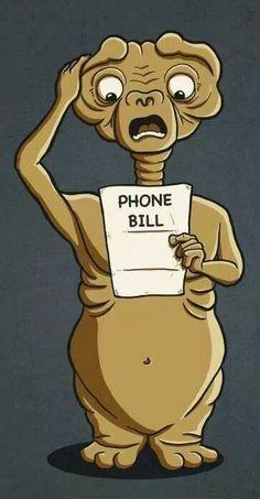Geek Humor | Oops... E.T. Should've used Skype! | #et #funny #geekhumor