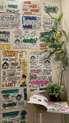Graffiti Lettering Fonts, Graffiti Writing, Graffiti Tagging, Street Art Graffiti, Art Journal Inspiration, Art Inspo, Art Sketches, Art Drawings, Graffiti Designs
