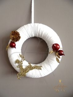 Handmade Christmas Wreath-Χειροποιητο πλεκτο στεφανι Christmas Decorations, Home Decor, Decoration Home, Room Decor, Christmas Decor, Ornaments, Christmas Baubles, Christmas Tables, Christmas Jewelry