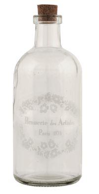 """Flacon de verre """"Brasserie des Artistes, Paris 1878"""" - Charme d'Antan"""