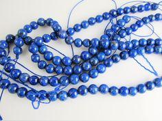 Lapis Lazuli kraal koningsblauw rond 6.5-7 mm
