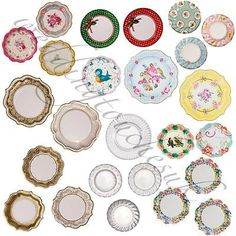 New #luxury #paper plates #vintage style tea party plates tea party accessories,  View more on the LINK: http://www.zeppy.io/product/gb/2/201145678101/