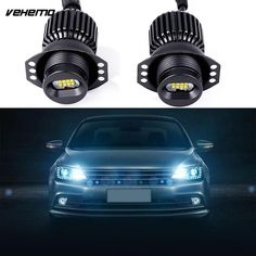 1 Pair Car LED Angel Eye Light Bulbs For BMW E90 Accessories 80W White