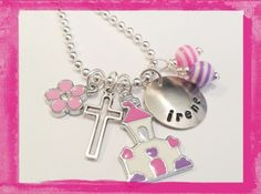 First Communion Necklace  Jewelry for Kids  Hand by LillyEllen, $22.00