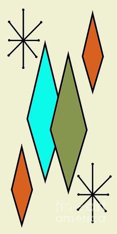 56 Ideas for modern art diy canvas stencils Mid Century Modern Decor, Mid Century Art, Mid Century Design, Midcentury Modern, Modern Chairs, Midcentury Artwork, Danish Modern, Modern Classic, Modern Canvas Art
