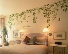 vine wall decal Sticker decal nursery decal birds by NatureStyle