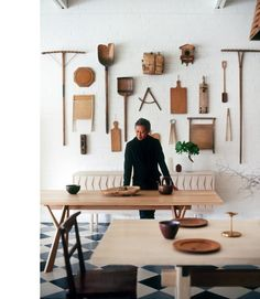 Khai Liew // adelaide shops // via the design files - great collection of interesting wood silhouettes on the wall.