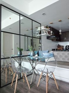 Tired of the dark finishes and gloomy vibe of her one-bedroom home, the owner decided to renovate the space with the help of an interior designer-friend Condo Design, House Design, Interior Design, 10 Year Old, 10 Years, One Bedroom, Traditional House, House Tours, Philippines