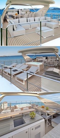 Azimut #Yachts introduces the Azimut Grande 95RPH: new hull, new design, and innovative solutions for a vessel with many surprises in store #interior