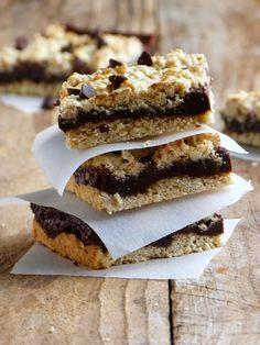 Chic, chic, chocolat...: Carrés de cookies à l'avoine au fudge