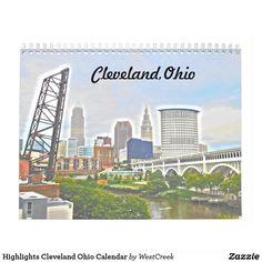 Highlights Cleveland Ohio Calendar- New for 2018!