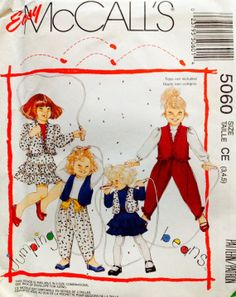 Easy McCall's 5060 Girls Jacket and Vest Skirt by Lonestarblondie, $4.00