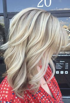 Pretty blonde tresses!  Follow Livingly's boards for trending hairstyle ideas. https://www.pinterest.com/follow/stylebistro/ Blonde Hair, Hair Color, Haircolor, Yellow Hair, Hair Color Changer, Blonde Hairstyles, Bright Hair, Human Hair Color, White Hair