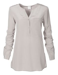 Shirt, pure silk | Madeleine Fashion