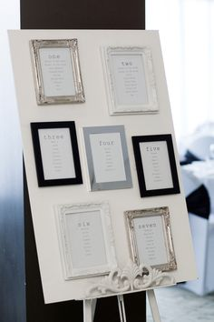 Simple but very effective Wedding Table Plan