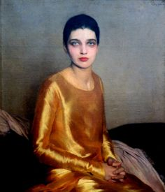 Portrait Of Kay Francis,1925 by Sir Gerald Kelly (British 1879-1972)