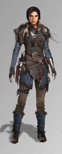 Rise of the Tomb Raider. Blue chainmail.