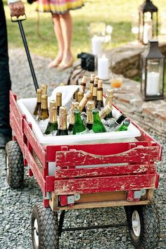 Ready to pregame? Transport all your favorite adult beverages, like Southern Comfort, on the go comfortably with this DIY Wagon Cooler—it'll keep drinks refreshingly crisp and cool while you partake in responsible shenanigans.