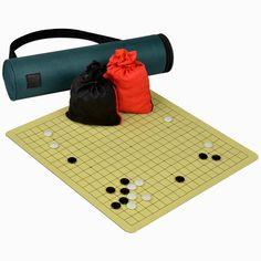 "Magnetic 14.3"" x 13.5"" Go Board w/ Single Convex Magnetic Plastic Stones Set"