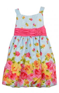 SPRING SEASON DRESSES: Toddler Blue Floral Dress http://www.primaoutlet.com/products.php?product=Toddler-Blue-Floral-Dress
