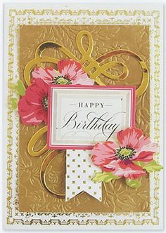 PACK 2 SHABBY PEACH FLORAL MOTHERS DAY TOPPERS  FOR CARDS AND CRAFTS