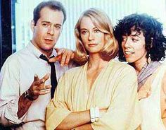 Moonlighting - (1985-89). Starring:   Cybill Shepherd, Bruce Willis, Allyce Beasley and Curtis Armstrong.