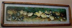 c1902 Battle of the Chicks Yard Long Print Ben Austrian  Buy now at Victorian Rose Prints on rubylane.com