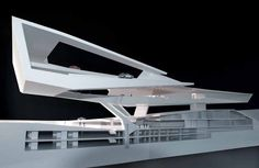 Porsche Museum, Stuttgurt. Delugan Meissl Associated Architects. Sectional study model. @Evan Sharp