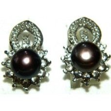 """Earrings is made of light metal with shungite stone - """"Nadia"""""""