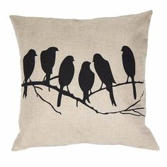 2016 pillow case vintage Cushion velvet pillow cover Throw Pillow Covers Pillowslip Case Bird PatternLinen Square Throw