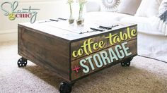 DIY Coffee Table with Storage | Shanty2Chic - YouTube