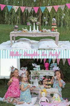 mother/daughter tea party. oh, i can't wait to do this with our daughter, her friends, and my friends with daughters!