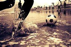 Soccer in the rain.